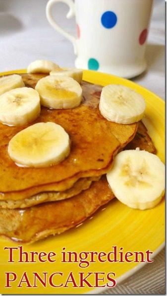 three ingredient pancakes recipe
