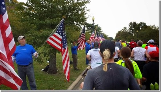 flags at marine corps marathon