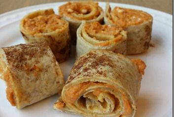 Healthy Pumpkin Roll Snack