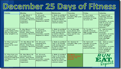 25 days of fitness RER