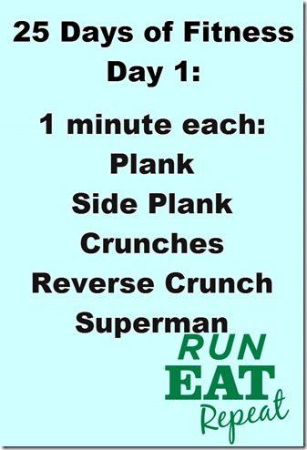 25 Days of Fitness–Abs Blast to Start - Run Eat Repeat