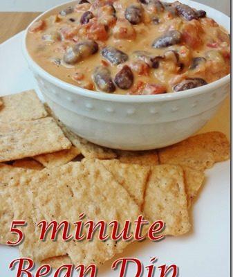 5 Minute Bean Dip Recipe