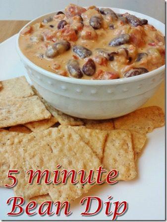5 minute bean dip