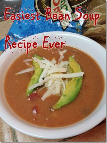 easy three ingredient bean soup recipe