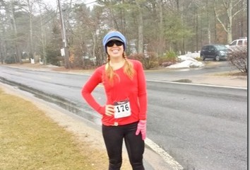 What I Wore to a Rainy Cold-ish Half Marathon in MA