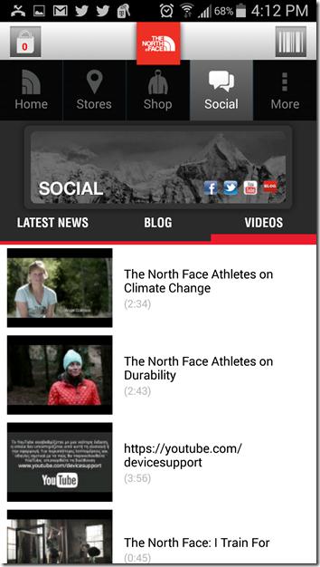 north face app