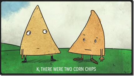 two corn chips