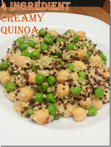 4 ingredient creamy quinoa