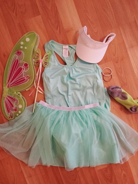 Tinkerbell Running Costume & Tinkerbell Running Skirt and Costume
