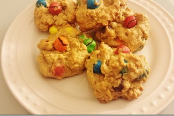 Easy Peanut Butter M&M Cookie Recipe