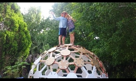 Geodesic dome party - The geodesic dome in connecticut call of earth ...