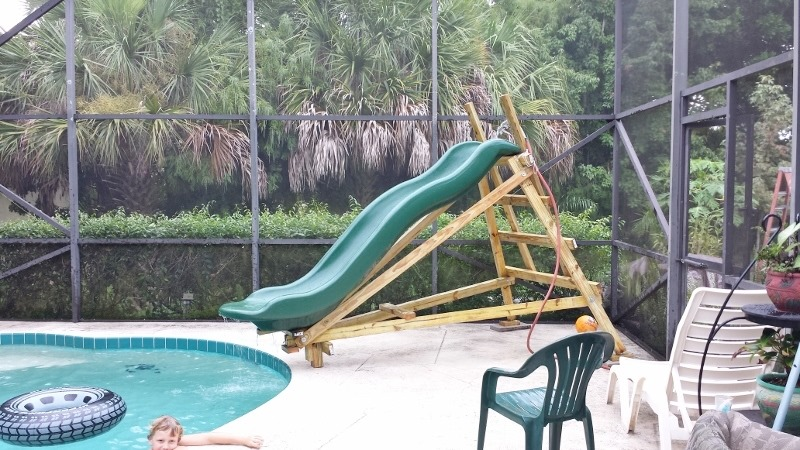 Homemade pool slide for Swimming pool water slide parts