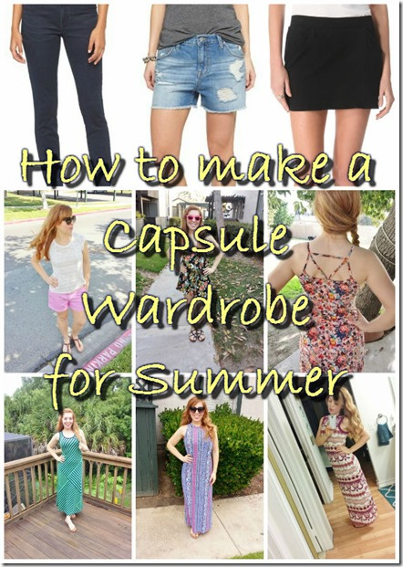 how to do a capsule wardrobe for summer