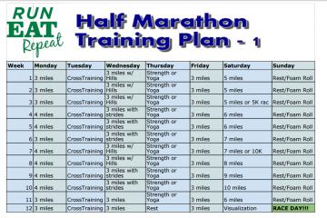 Half Marathon Training Plan Level 1