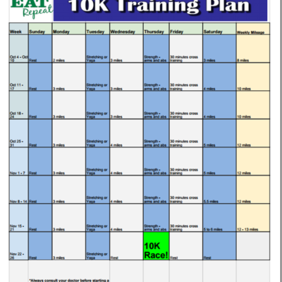 Get Ready for a 10K by Thanksgiving!