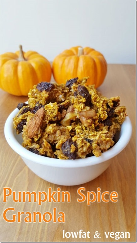 pumpkin spice granola recipe low fat vegan