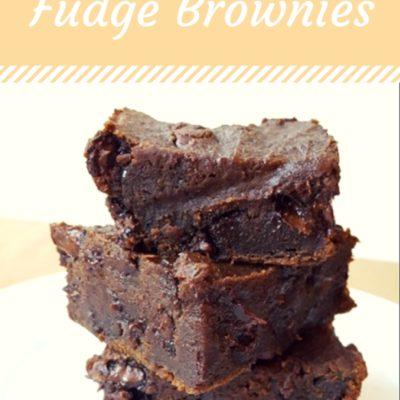 2 Ingredient Fudge Brownies
