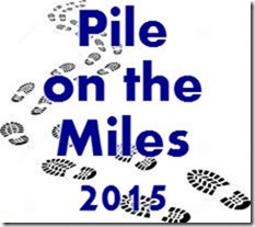 pile on the miles shoe logo