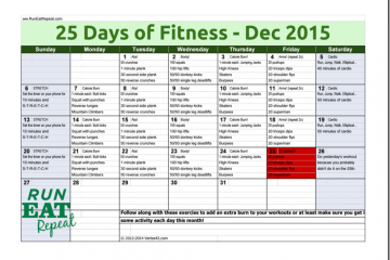 25 Days of Fitness Challenge December 2015