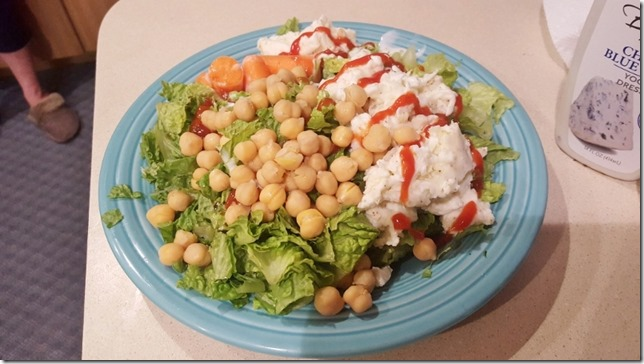 beans and eggs on salad like a weirdo (800x450)