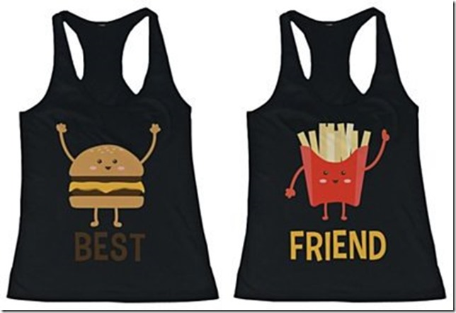 hamburger and fries tees