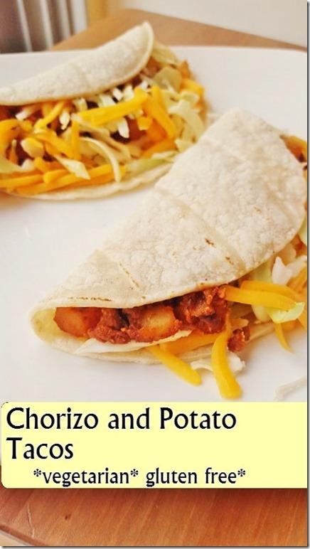 soy chorizo and potato tacos vegetarian