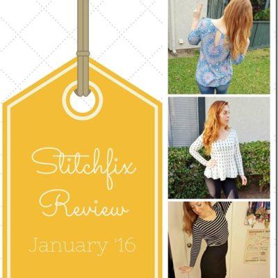 StitchFix Fashion Review January '16