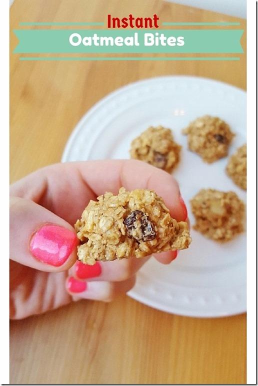 Instant Oatmeal Bites Recipe Blog
