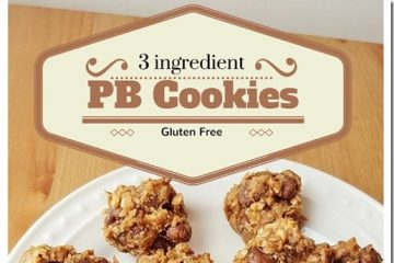 3 Ingredient PB Oatmeal Cookies