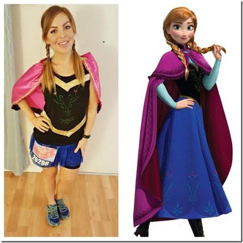 tinkerbell half marathon anna frozen costume
