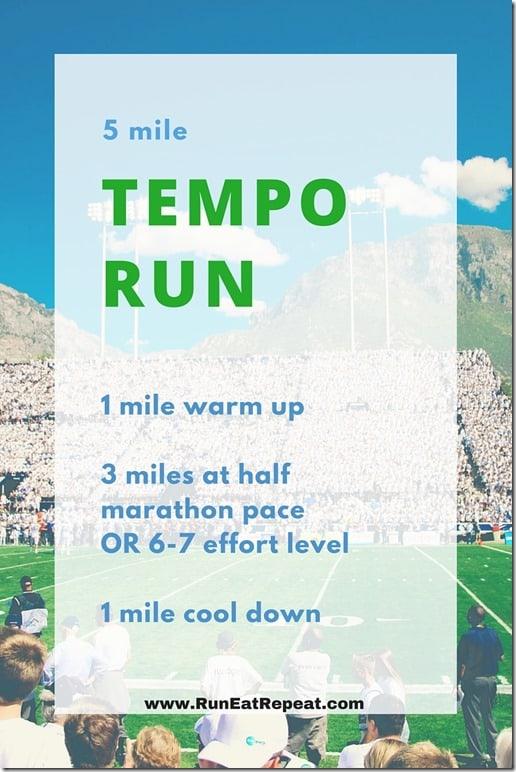 marathon training tempo run