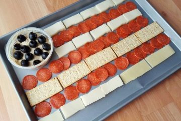 Flag Cheese Tray and Marathon Training Week 7