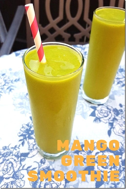 mango green smoothie recipe blog