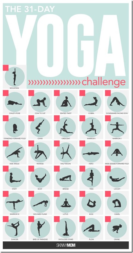 30 day yoga challenge calendar