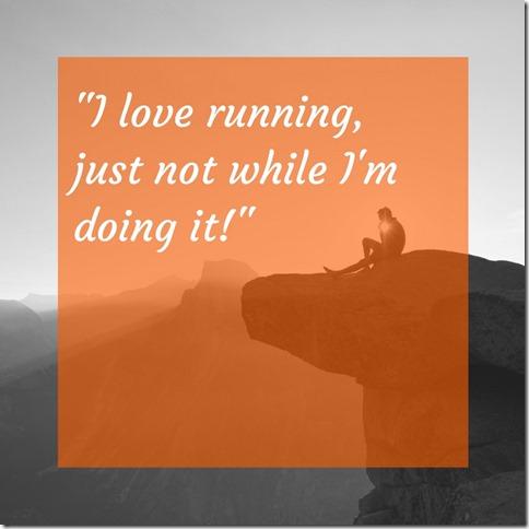 i love running but