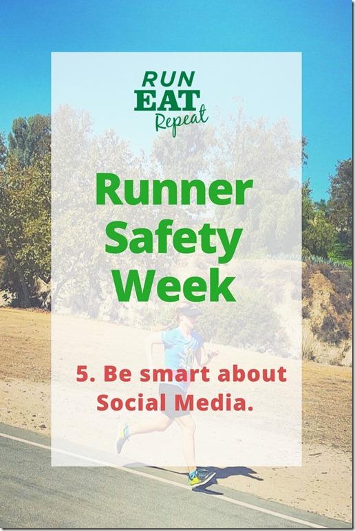 runner safety social media