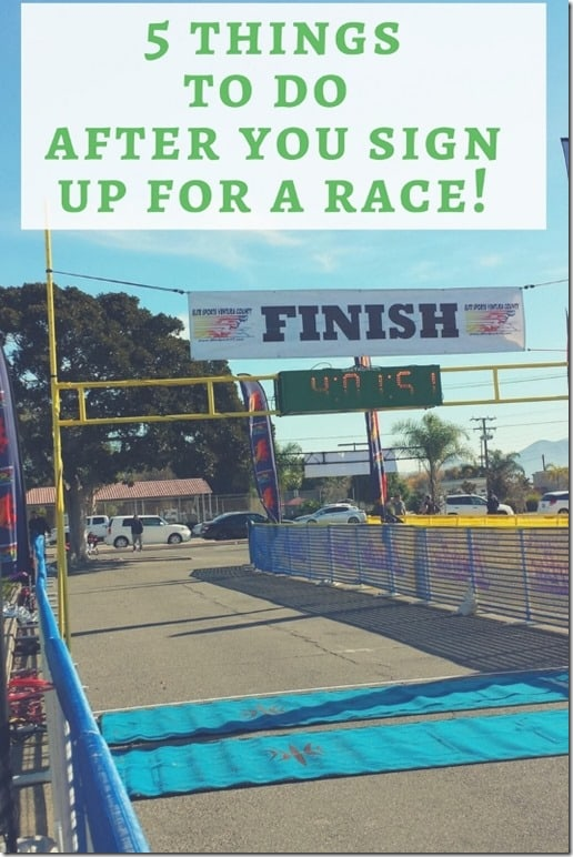 sign up for a race now what