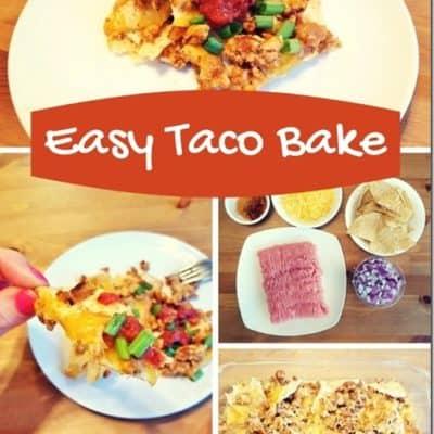 Super Easy Taco Bake