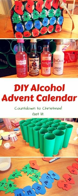 Diy Wine Advent Calendar : Diy alcohol advent calendar run eat repeat