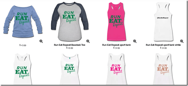 Run Eat Repeat blog t shirts
