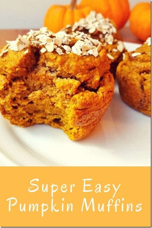 super easy pumpkin muffins recipe