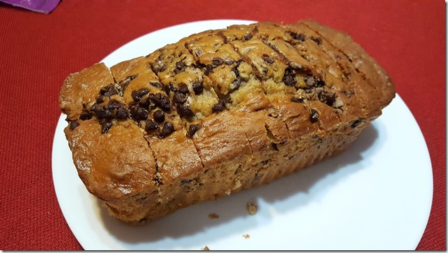 chocolate chip bread food blog 1