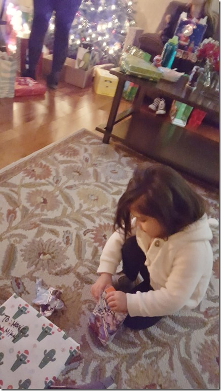 opening presents christmas fun