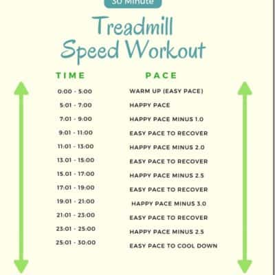 30 Minute Treadmill Speed Workout