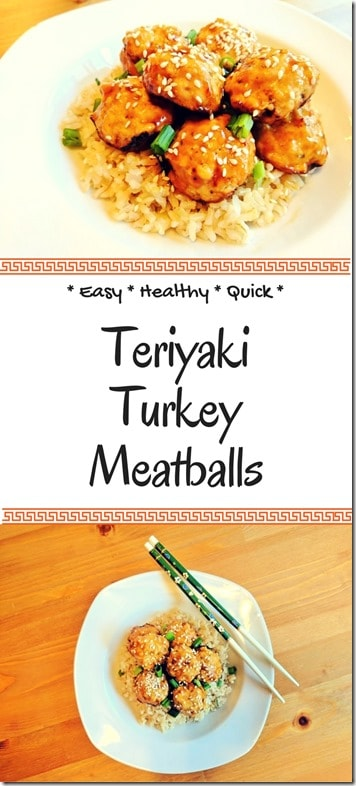Easy teriyaki turkey meatballs