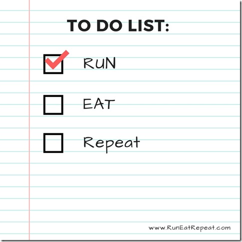 Run Eat Repeat list