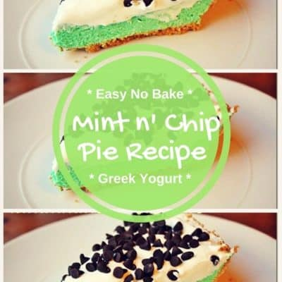 Easy No Bake Mint N' Chip Pie Recipe