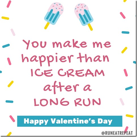 ice cream long run valentine