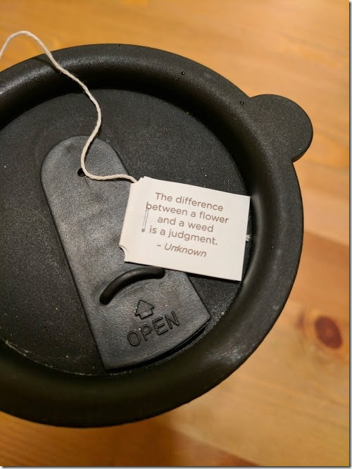 lil message from my tea