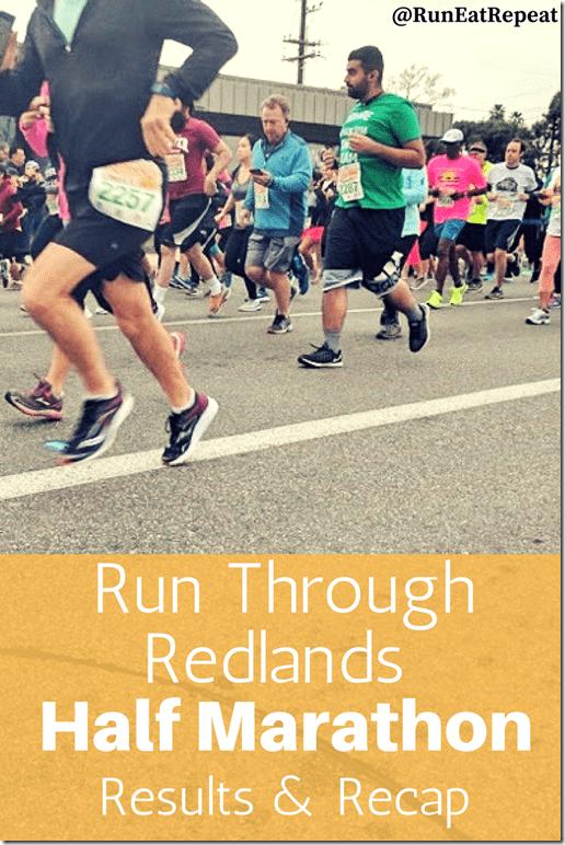 run through redlands half marathon recap